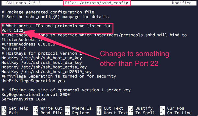 ubuntu-change-ssh-port